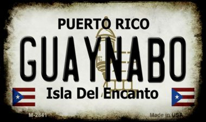 Guaynabo Puerto Rico State License Plate Magnet M-2841