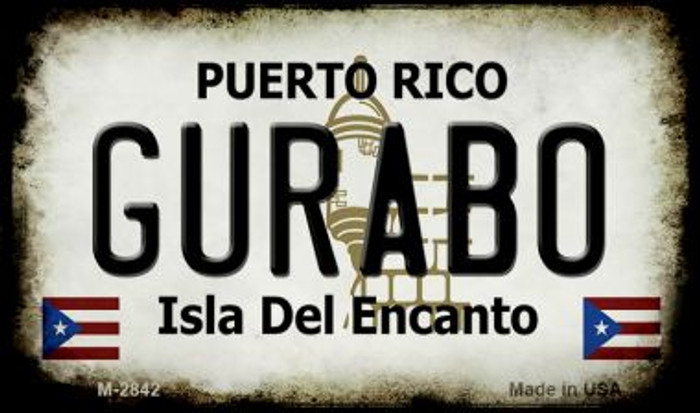 Gurabo Puerto Rico State License Plate Magnet M-2842
