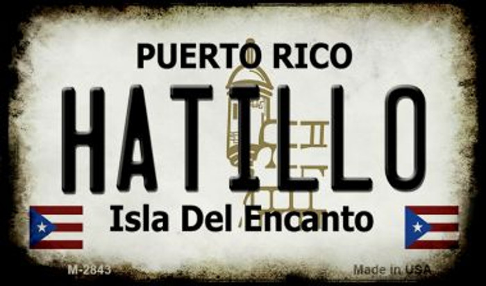 Hatillo Puerto Rico State License Plate Magnet M-2843
