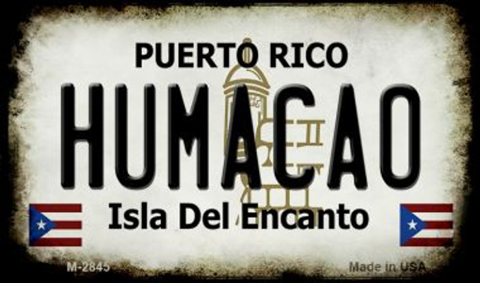 Humacao Puerto Rico State License Plate Magnet M-2845