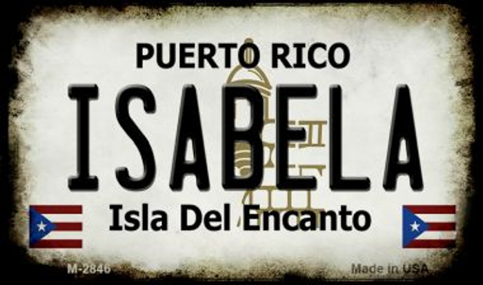 Isabela Puerto Rico State License Plate Magnet M-2846