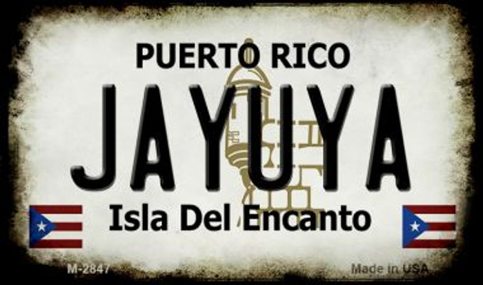 Jayuya Puerto Rico State License Plate Magnet M-2847