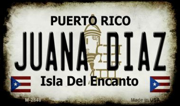 Juana Diaz Puerto Rico State License Plate Magnet M-2848