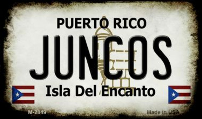 Juncos Puerto Rico State License Plate Magnet M-2849