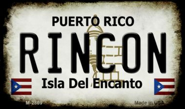 Rincon Puerto Rico State License Plate Magnet M-2869