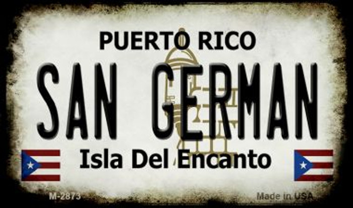 San German Puerto Rico State License Plate Magnet M-2873