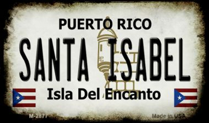 Santa Isabel Puerto Rico State License Plate Magnet M-2877