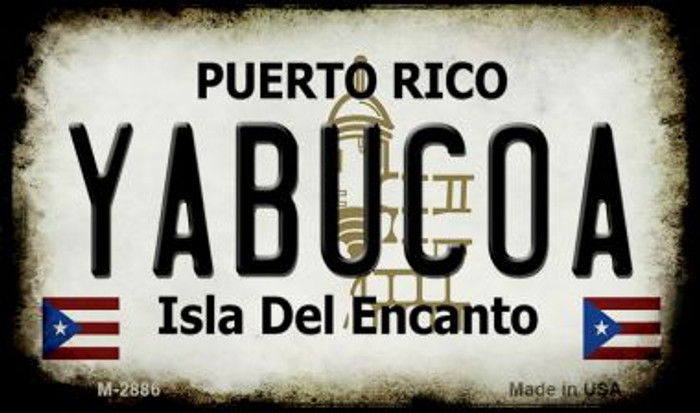 Yabucoa Puerto Rico State License Plate Magnet M-2886
