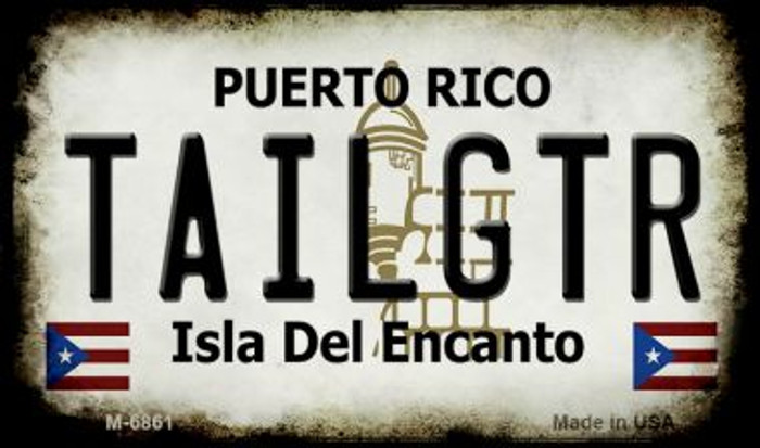 Tailgtr Puerto Rico State License Plate Magnet M-6861