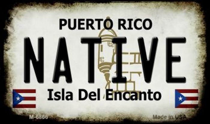 Native Puerto Rico State License Plate Magnet M-6866