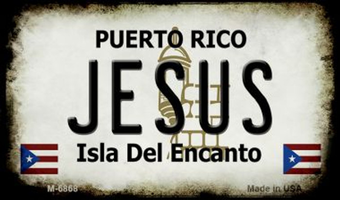 Jesus Puerto Rico State License Plate Magnet M-6868