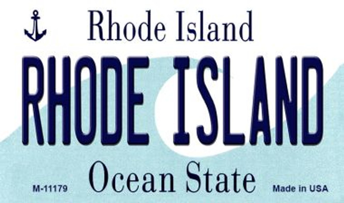 Rhode Island State License Plate Novelty Magnet M-11179