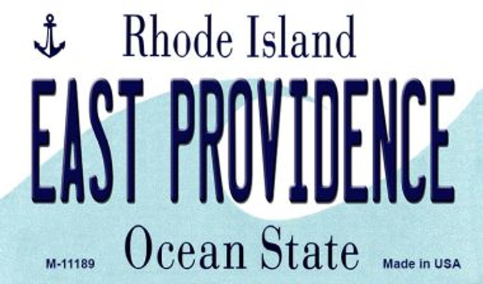 East Providence Rhode Island State License Plate Novelty Magnet M-11189