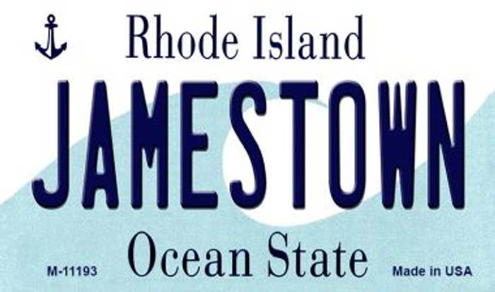 Jamestown Rhode Island State License Plate Novelty Magnet M-11193