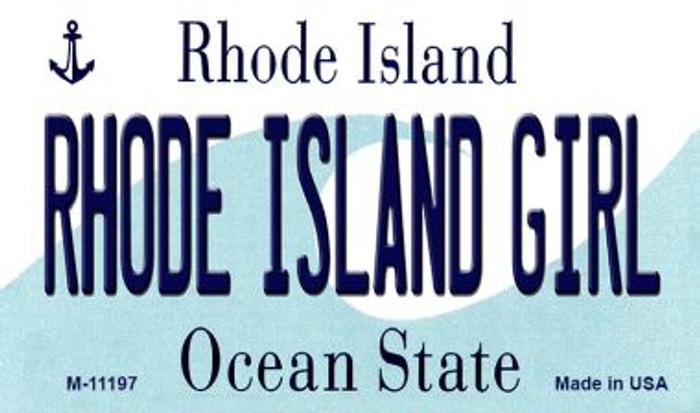 Rhode Island Girl Rhode Island State License Plate Novelty Magnet M-11197