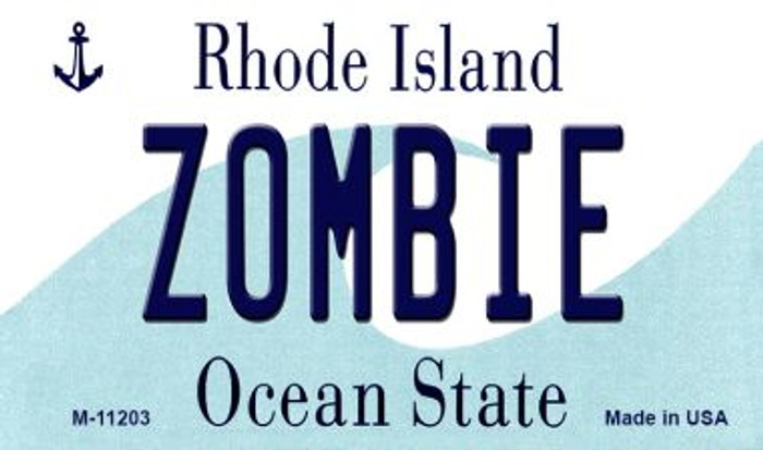 Zombie Rhode Island State License Plate Novelty Magnet M-11203