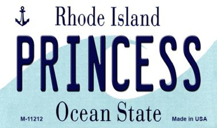Princess Rhode Island State License Plate Novelty Magnet M-11212