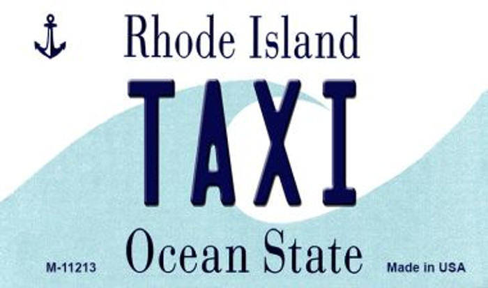 Taxi Rhode Island State License Plate Novelty Magnet M-11213