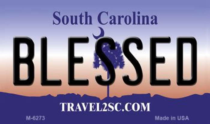 Blessed South Carolina State License Plate Magnet M-6273