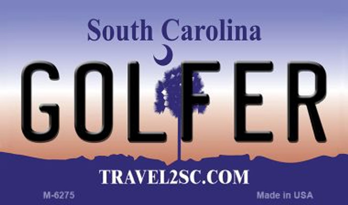 Golfer South Carolina State License Plate Magnet M-6275