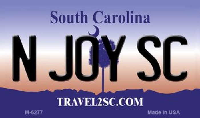 N Joy SC South Carolina State License Plate Magnet M-6277