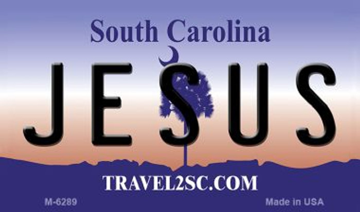 Jesus South Carolina State License Plate Magnet M-6289