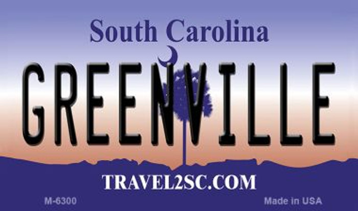 Greenville South Carolina State License Plate Magnet M-6300