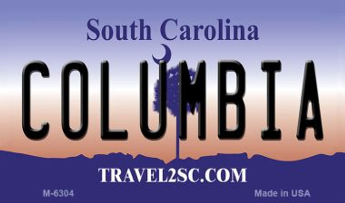 Columbia South Carolina State License Plate Magnet M-6304