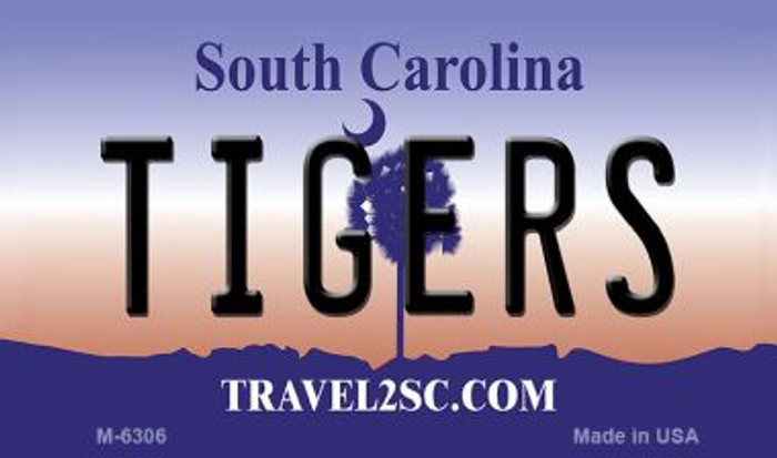 Tigers South Carolina State License Plate Magnet M-6306