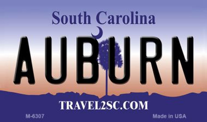 Auburn South Carolina State License Plate Magnet M-6307