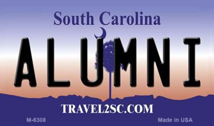 Alumni South Carolina State License Plate Magnet M-6308