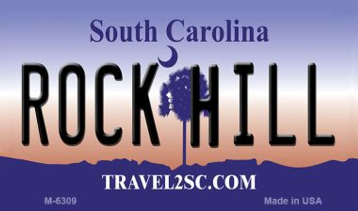 Rock Hill South Carolina State License Plate Magnet M-6309