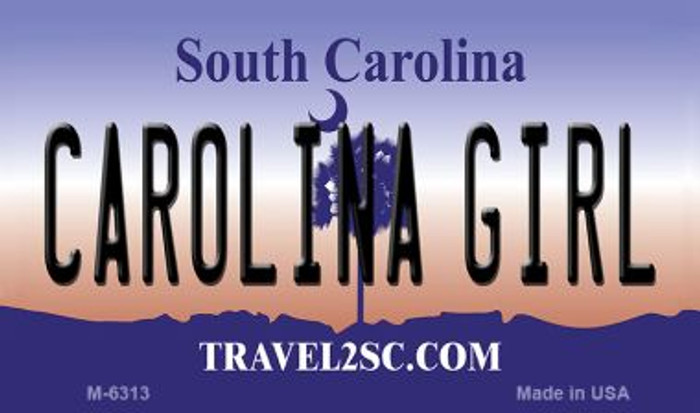 Carolina Girl South Carolina State License Plate Magnet M-6313