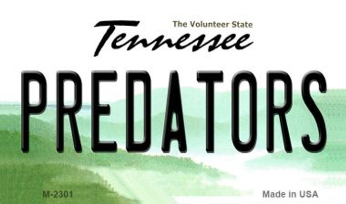Predators Tennessee State License Plate Magnet M-2301