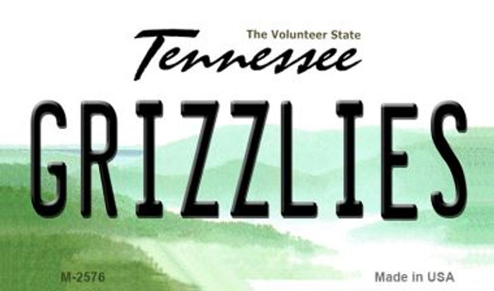 Grizzlies Tennessee State License Plate Magnet M-2576