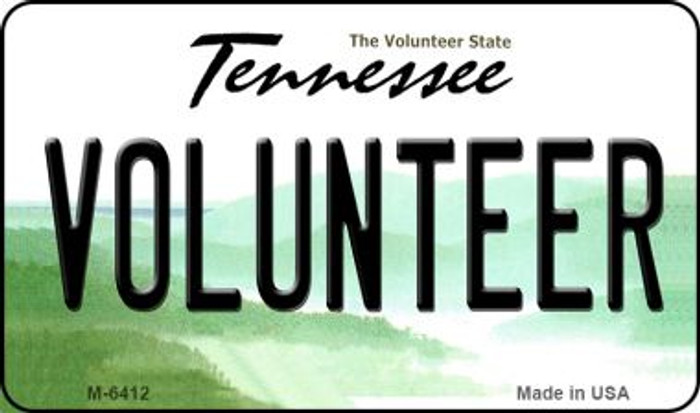 Volunteer Tennessee State License Plate Magnet M-6412