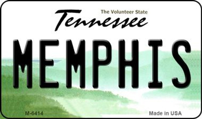 Memphis Tennessee State License Plate Magnet M-6414