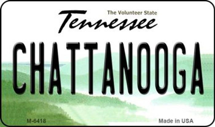 Chattanooga Tennessee State License Plate Magnet M-6418
