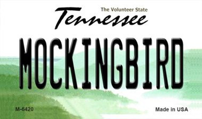 Mockingbird Tennessee State License Plate Magnet M-6420