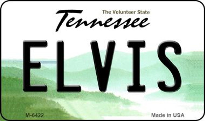 Elvis Tennessee State License Plate Magnet M-6422