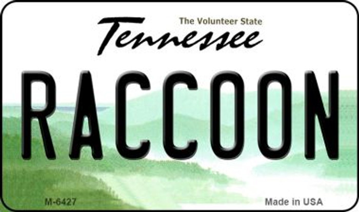 Raccoon Tennessee State License Plate Magnet M-6427