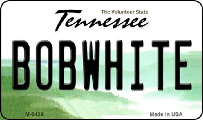 Bobwhite Tennessee State License Plate Magnet M-6429