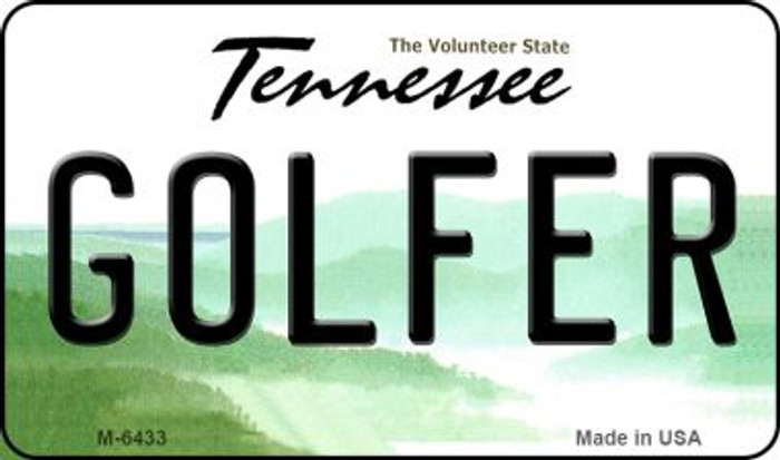 Golfer Tennessee State License Plate Magnet M-6433