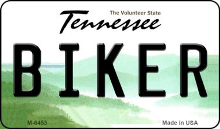 Biker Tennessee State License Plate Magnet M-6453