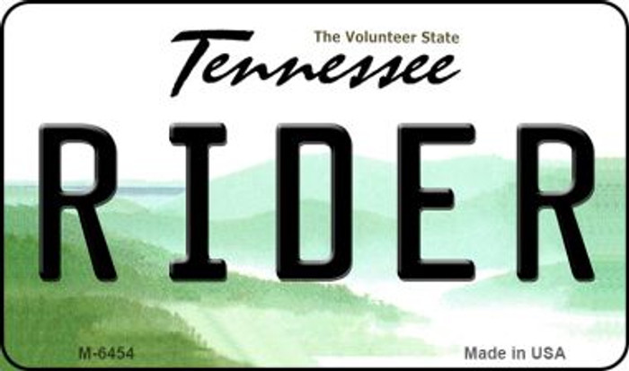 Rider Tennessee State License Plate Magnet M-6454