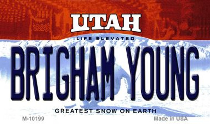 Brigham Young Utah State License Plate Magnet M-10199