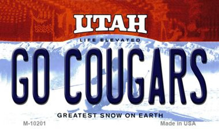 Go Cougars Utah State License Plate Magnet M-10201