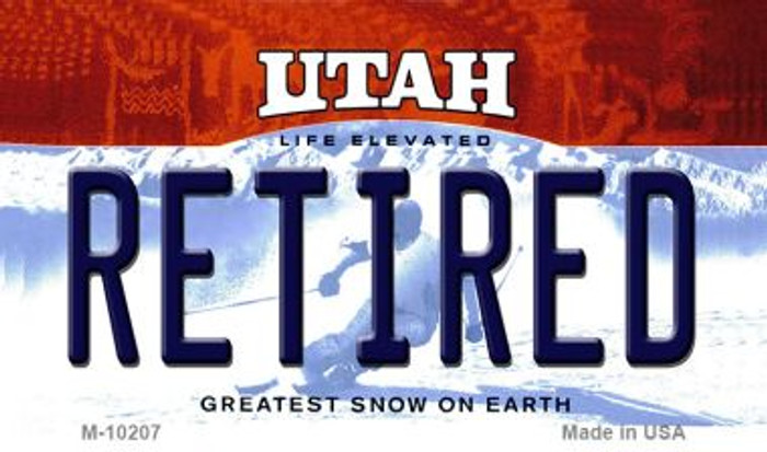 Retired Utah State License Plate Magnet M-10207