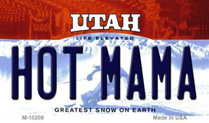 Hot Mama Utah State License Plate Magnet M-10208