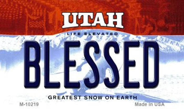 Blessed Utah State License Plate Magnet M-10219